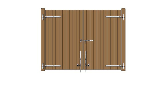 Solid Board Gate Plans