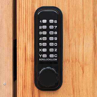 Locking with Vertical Keypad Lateral Action Combination Dead Bolt Lock